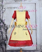 Alice Madness Returns Cosplay Alice Red Maid Dress Yellow Apron Sweet Costume