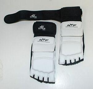 WTF TaeKwonDo Foot Guard Protector TKD Martial Arts Sparring Instep Gear Karate