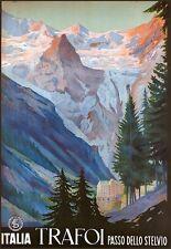 Trafoi Passo Dello Stelvio ITALIA Travel Poster