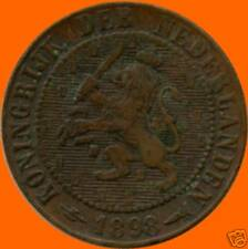 1898 Netherlands 2 1/2 Cent Coin