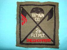 "VIETNAM WAR HAND SEWN PATCH, US 118th AVN Co 2nd FLIGHT PLT "" THE CHOPPERS """