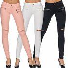 Mujer Ajustada Pantalones Vaqueros Pantalón Pitillo Elástico de cintura baja