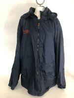 Zigle Illini Size XL Long Sleeve Lined Hoodie Zip Up Winter Mens Jacket