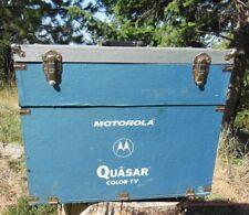 old Motorola Quasar Color TV Tube Repair Box Technician Case Mid-Century LARGE