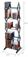 CD DVD 5 Tier Media Rack Storage Cabinet Organizer Tower Shelf Multimedia Holder