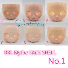 """Takara 12"""" Neo Blythe RBL FACE SHELL & head back Factory Nude doll Custom parts"""