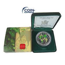 *** KANADA 5 Dollar Gedenkmünze 2003 Maple Leaf Farbe SILBER Münze Coin Canada *
