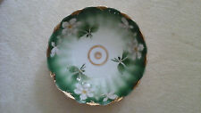 """weimar, germany green bowl with gold rim, 9 3/4"""" diameter X 2 3/4"""" height"""