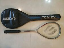 Ektelon Tcm Ix Graphite Squash Racquet with Padded Xv Racquet Case.  Low Wear.