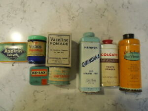 Deadstock vintage unused Over the Counter Pharmaceuticals Period Props 9 in all