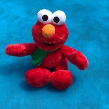 "Sesame Workshop Elmo Plush Stuffed Animal 9"" Green Scarf"