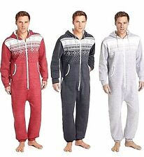 New Mens Womens Tokyo Aztec Hooded Zip Jumpsuit All In One Tracksuit Pyjama SM L