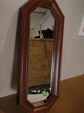 """Home Interior  wood frame mirror horizontal or vertical 17"""" X 7.5"""""""