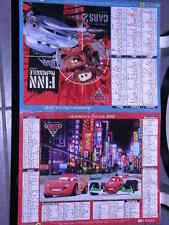 ALMANACH FACTEUR CALENDRIER  2012 CARS