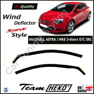 VAUXHALL ASTRA J MK6 3-doors GTC SRI 2010-2015 2-pc Wind Deflectors HEKO Tinted