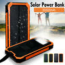 300000mAh Waterproof Solar Power Bank 2USB Battery Portable Charger For Mobile