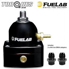 Fuelab Mini EFi Two Port Fuel Pressure Regulator AN-6 Black - 54501-1