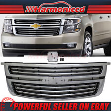 Fits 15-17 Chevy Tahoe LTZ Style Front Upper Grill Grille Chrome