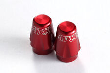 2X Bike Bicycle Tire Schrader Valve Caps (American Type) MTB Tyre Alloy- Red