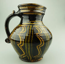 Doug Fitch British Studio Slipware Pottery A good large 17thC design Jug 20thC