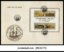 SOUTH AFRICA - 1975 THOMANS BAINES' PAINTINGS M/S FDC WITH SHIP CANCL.