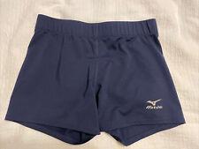 Mizuno Navy Performance Volleyball Spandex Shorts Size Medium