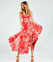 Free People Lille Floral Printed Maxi Dress raspberry xs s m l FP-50-54/P