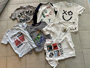 Jungen T-Shirt Bekleidungsset Zara MOLO Joules Dino Batman Gr. 122 128 NP:110€