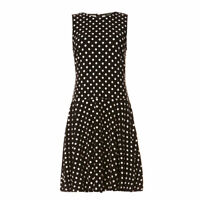Polo Ralph Lauren Women's Polka Dots Dress Kassey Sleeveless Long  XL TW12