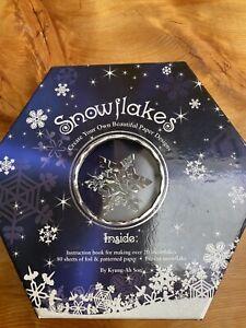 NIB Snowflake Kit for Winter Decorating. Paper Folding Never Opened