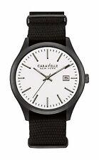 Caravelle New York Men's 45B142 Quartz Grey Case Black Nylon Strap 41mm Watch