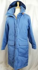 Womens LL BEAN Winter Warmer Long Coat Thick Insulated Comfortable Blue Medium M