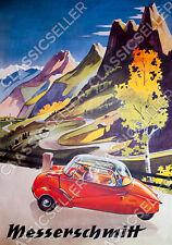Messerschmitt KR 200 201 Kabinenroller Poster Plakat Bild Karo Schild Kunstdruck