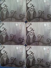Hoot Owls Bar Drink Coaster Gift Boxed Set of 6