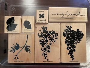 BLOSSOMS ABOUND Stampin' Up! Wood Stamp Set
