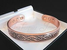 MENS COPPER CELTIC DESIGN TORQUE MAGNETIC BANGLE/BRACELET ARTHRITIS/PAIN RELIEF