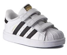 Adidas Superstar Cf Infante Niños Unisex Reino Unido 6.5 & 7.5 Blanco Toque Zapatillas Cierre