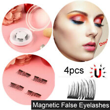4PCS/SET 3D Natural Thick Eye Lashes Magnetic False Eyelashes BS