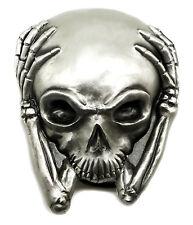 Skull Belt Buckle 3D Alien Head in Hands Sci fi Gothic Authentic Great American