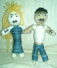 2 Authentic Voodoo dolls Ex pair real 7 pins guide karma new orleans hoodoo