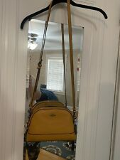 NWT Coach Leather Dome Crossbody Mustard Gold
