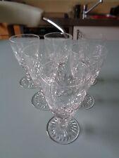 SET 6 LUDLOW STUART GLASSES CRYSTAL REPLACEMENT DRINKING GLASSES LIQUEUR (ref41)