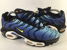 Nike Air Max Plus Tn Hyper Blue Yellow Black White Mens Size 8.5 Rare 604133-475