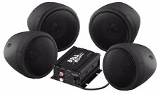 BOSS AUDIO 1000W 4-SPEAKER BLUETOOTH SOUND SYSTEM BLACK ARCTIC CAT HONDA ATV/UTV