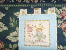 Friends are the Flowers of Life handmade Me Mary Engelbreit wall quilt 16x16