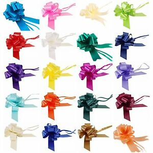 Pull Bows 50mm 30mm Large Small Florist Ribbon Wedding Car Decorations Gift Wrap