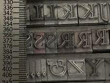 Frascati 24 pt Caps - Metal Type - Printers Type - Letterpress Type