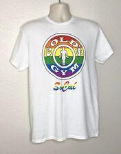 RARE VTG Gold's Gym SOCAL LGBTQIA+ Gay Pride Rainbow Print T-Shirt Adult Medium
