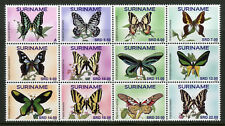 Suriname Butterflies Stamps 2018 MNH Butterfly Vlinders Insects 12v Block