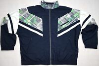 Trainings Jacke Sport Vintage 90s Bad Taste Track Top Fasching Karneval 27 M-L